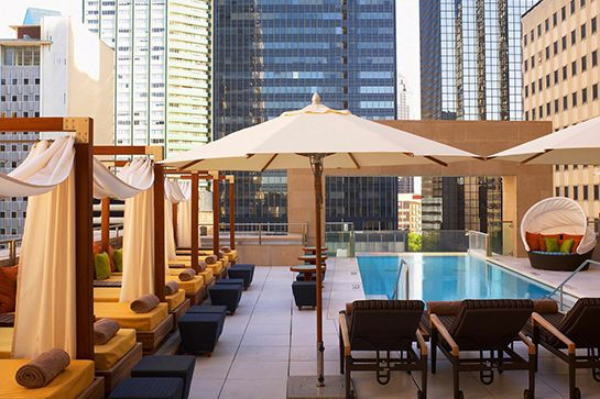 Over-The-Edge Rooftop Pool — The Joule Hotel, Dallas