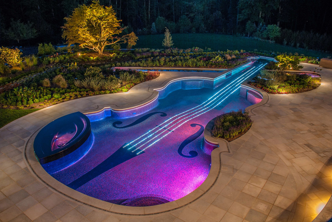 Not another violin but a swimming pool
