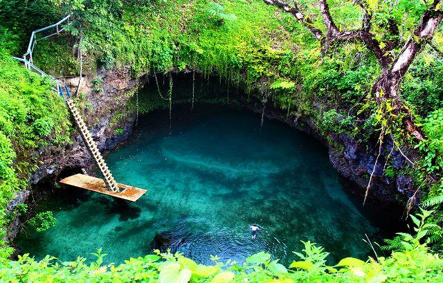 To Sua Ocean Trench, Lotofaga, Samoa
