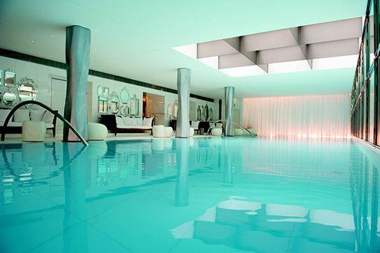 Indoor Infinity Pool — Le Royal Monceau Raffles, Paris