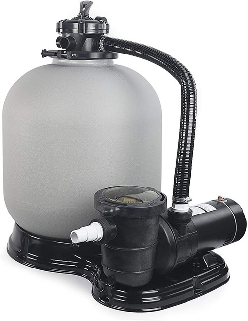 "4500GPH 19"" Sand Filter w/ 1HP Above Ground Swimming Pool Pump reviews"